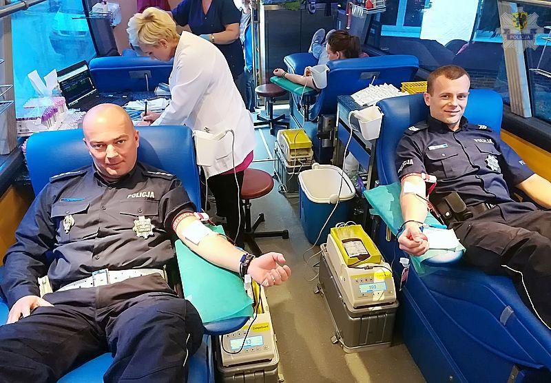 Policjanci z Pucka oddawali krew